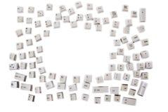 zapina komputerową klawiaturę Zdjęcie Royalty Free