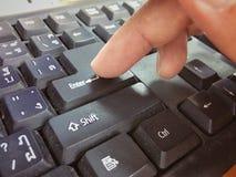 Zapina numeryczną klawiaturę Zdjęcia Royalty Free