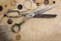 zapina starych nożyce Fotografia Stock
