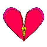 Zapinający serce Zdjęcie Royalty Free