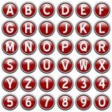 zapnij czerwony rundy alfabet Zdjęcia Royalty Free