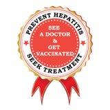 Zapobiega zapalenie wątroby czerwonego faborek dla kampanii ilustracja wektor