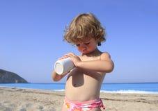 zapobiegania sunburn Zdjęcie Royalty Free