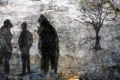 Zapominający w ciemności ilustracja wektor