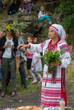 ZAPORIZHIA, UKRAINE-JUNE 21: Celebrating Kupala Night 21, 2014 i Stock Images
