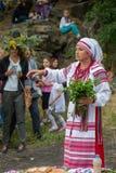 ZAPORIZHIA, UKRAINE-JUNE 21: Celebrating Kupala Night 21, 2014 i Stock Images