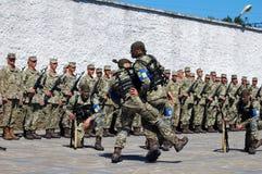 ZAPORIZHIA, UKRAINE - June 3, 2017: Combat reception of Ukraine special forces soldiers on Khortytsya island Royalty Free Stock Photo