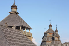 Zaporizhzhya哥萨克人的军事城楼时间 免版税库存照片