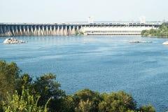 Zaporizhzhya power dam Royalty Free Stock Photo