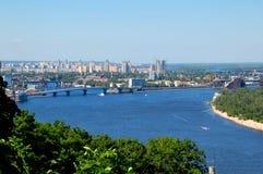 Zaporoska rzeka, Kijowski Ukraina zdjęcie stock