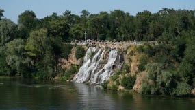 Zaporoska rzeka miasta Dnipro kraj ojczysty Ukraina Zdjęcie Royalty Free