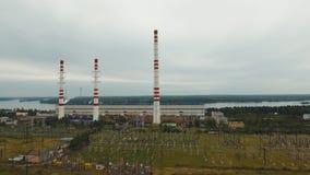 zaporozhye Украины станции реки гидроэлектрической энергии dnepr видеоматериал