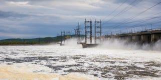 zaporozhye Украины станции реки гидроэлектрической энергии dnepr Стоковое Изображение