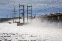 zaporozhye Украины станции реки гидроэлектрической энергии dnepr Стоковые Фотографии RF