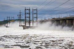 zaporozhye Украины станции реки гидроэлектрической энергии dnepr Стоковые Изображения RF