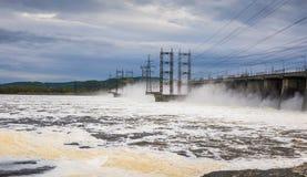 zaporozhye Украины станции реки гидроэлектрической энергии dnepr Стоковые Изображения