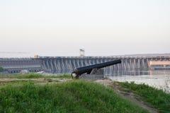Zaporozhye hydroelektryczna elektrownia zdjęcia royalty free