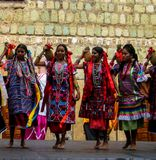 Zapotec female dancers in Oaxaca, Mexico