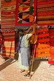 Zapotec Rugseller, Teotitlan Στοκ εικόνες με δικαίωμα ελεύθερης χρήσης