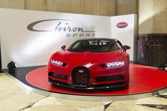 Zapowiedź Bugatti Chiron sport Zdjęcia Royalty Free