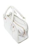 Zapowiedzi dam białej skóry modna torebka Obraz Royalty Free