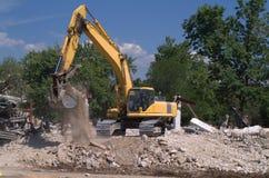 zappatore dell'escavatore a cucchiaia rovescia Fotografie Stock