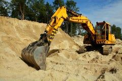 Zappatore della sabbia Immagine Stock