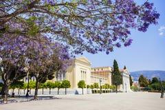Zappeion, één van de belangrijkste oriëntatiepunten van Athene, Griekenland Stock Foto's
