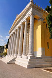 Zappeion. The Zappeion is a building in the National Gardens of Athens in the heart of Athens, Greece. It is generally used for meetings and ceremonies, both royalty free stock photography