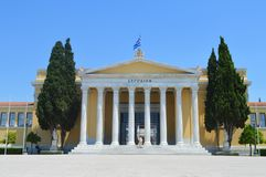 Zappeions-Museumsquadrat in Athen, Griechenland am 23. Juni 2017 Stockfotos