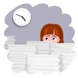 Zapracowany kobiety i ostatecznego terminu czas royalty ilustracja