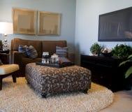 zapraszający żywy nowożytny pokój zdjęcie royalty free