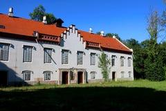 Zapresic, Croatia. Historical castle in the complex `Novi dvori` in Zapersic, Croatia. It belonged to historic Croatian viceregent Josip Jelacic royalty free stock photo