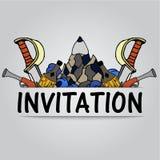 zaproszenie Obrazy Stock