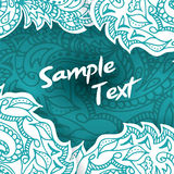 Zaproszenie abstrakcjonistyczna karta Wektorowy szablonu plakat z doodles dla twój projekta Zdjęcia Stock