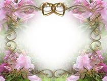 zaproszenie azalii różowe ślub Obrazy Stock