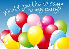 zaproszenie balonowy wektor Fotografia Stock