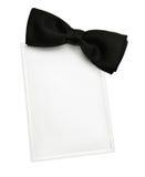 zaproszenie czarny krawat Zdjęcia Stock