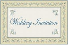zaproszenie elegancki ślub Zdjęcia Royalty Free