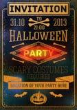 Zaproszenie Halloween przyjęcie z nietoperzami, kości, royalty ilustracja