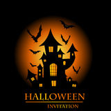 Zaproszenie halloweenowa karta Zdjęcie Royalty Free