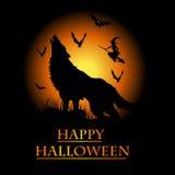 Zaproszenie halloweenowa karta Obrazy Stock
