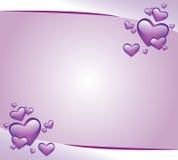 zaproszenie karciane purpury royalty ilustracja