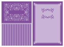 zaproszenie karciane purpury Zdjęcia Royalty Free