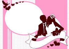 zaproszenie karciany ślub Obrazy Royalty Free
