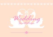 zaproszenie karciany ślub Zdjęcie Royalty Free