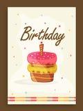 Zaproszenie karciany projekt dla przyjęcia urodzinowego Zdjęcia Royalty Free