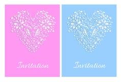 Zaproszenie karciany szablon Obrazy Royalty Free
