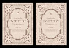 Zaproszenie karciany unikalny projekt - rocznika styl ilustracja wektor