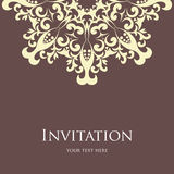 Zaproszenie karta Obrazy Stock
